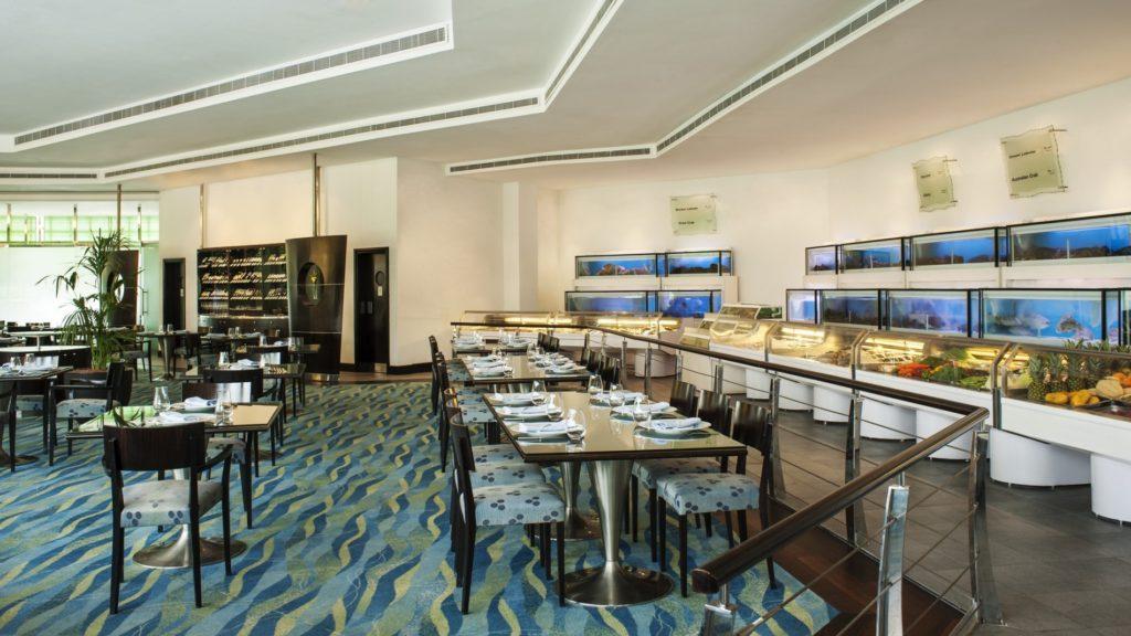 بوفيه مأكولات بحرية في دبي