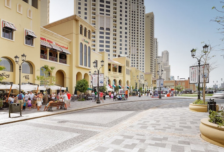 أفضل مناطق التنزه والتسوق فى الهواء الطلق فى دبي
