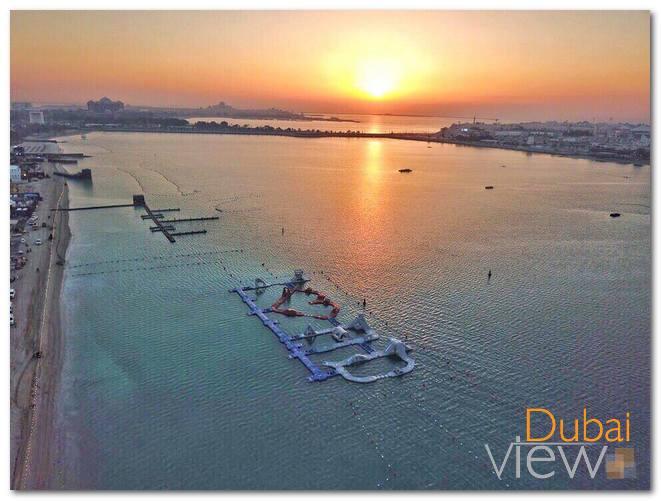 أكوا فن هي أكبر حديقة ألعاب مائية في دبي قابلة للنفخ